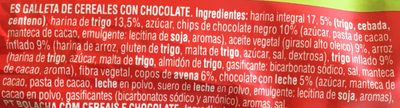 Vitalday crocant chocolate galleta integral con copos de avena - Ingredientes - es