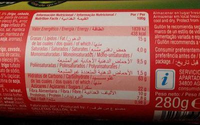 Vitalday crocant chocolate - Voedingswaarden - es