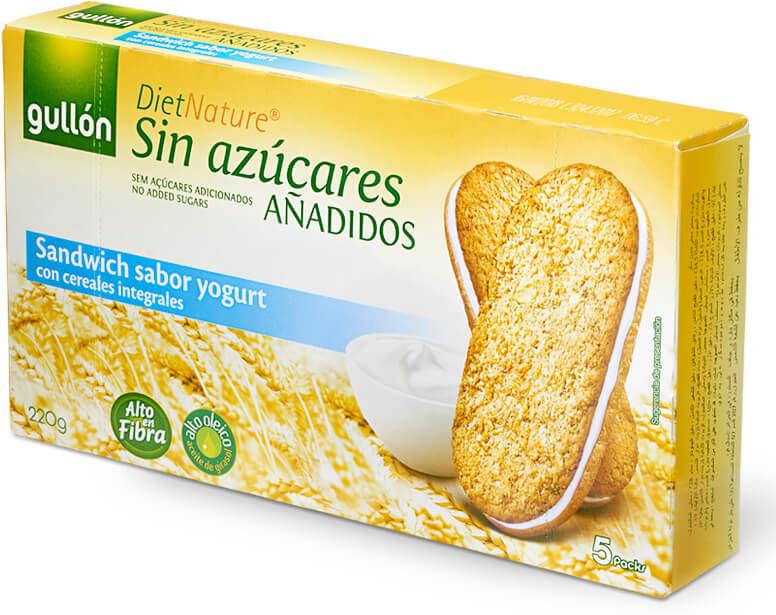 Galletas sandwich sabor yogurt sin azúcares añadidos - Producto - es