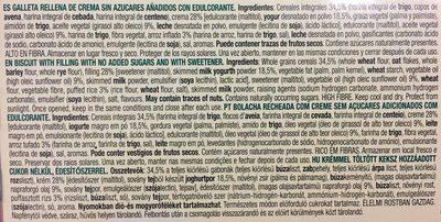 Galletas sandwich sabor yogurt sin azúcares añadidos - Ingredientes - es