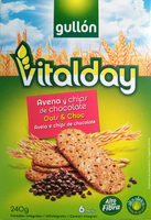 Vitalday galletas de avena con chips de chocolate - Product - en