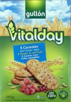 Vitalday 5 cereales con frutas rojas - Producte