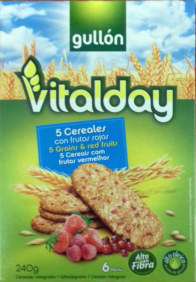 Vitalday 5 cereales con frutos rojos - Produkt - es