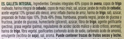 Vitalday 5 cereales con frutas rojas - Ingredients