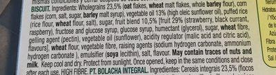 Vitalday 5 cereales con frutas rojas - Ingrédients