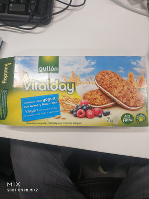 Vitalday sandwich sabor yogurt con avena y frutos rojos - Producto - es