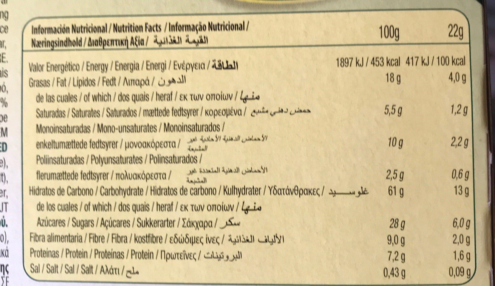 Gullon, vitalday, hazelnut sandwich biscuit - Nutrition facts - en