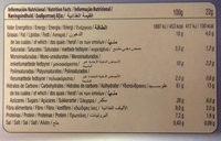 Sandwich de avellana con avena y chips de chocolate Vitalday - Informació nutricional
