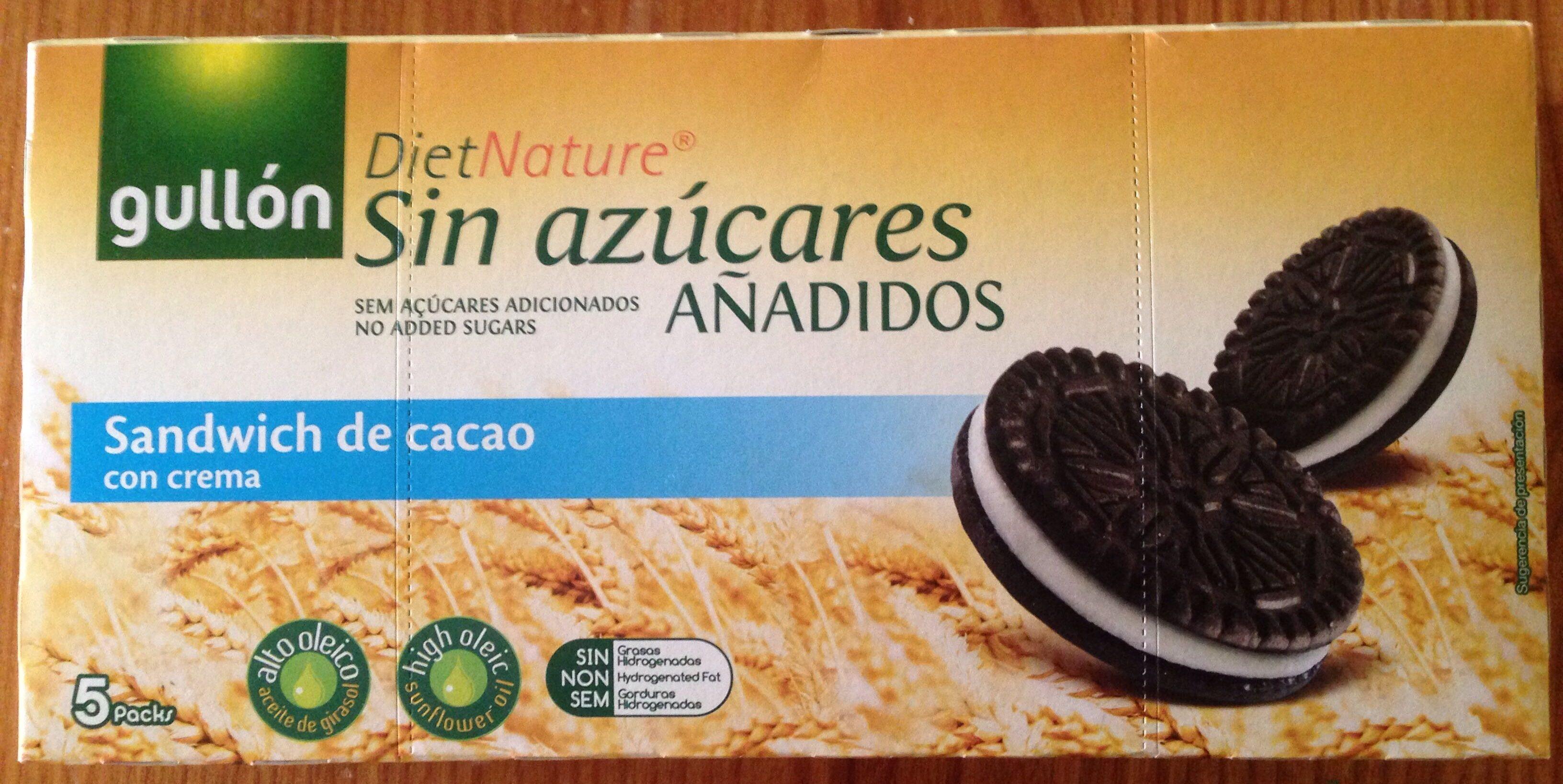 Galletas sandwich de cacao rellenas de crema - Product