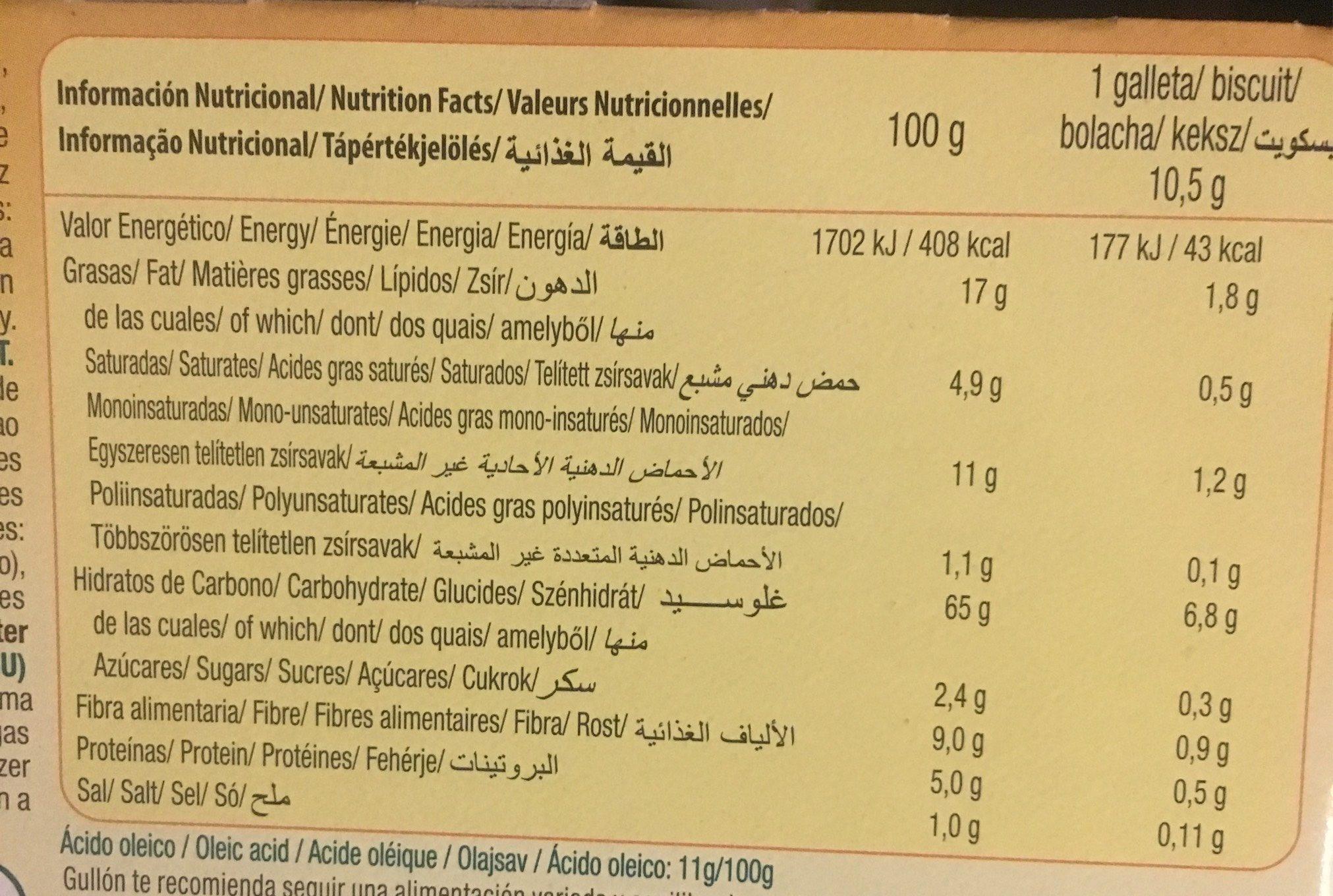 Galletas sandwich de cacao rellenas de crema - Nutrition facts