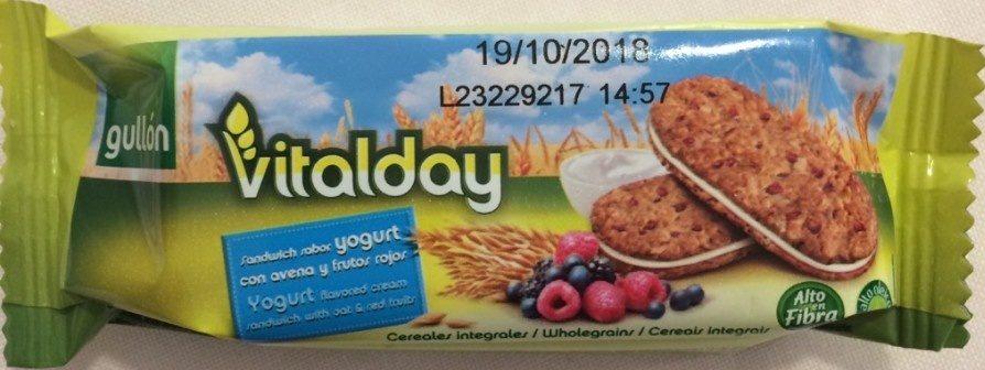 Gullon Vitalday Galletita Yogurt Frutos Rojos - Producto