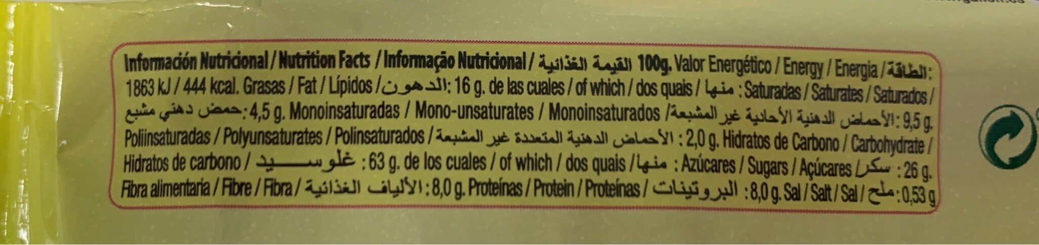 Gullon Vitalday Galletita Yogurt Frutos Rojos - Información nutricional