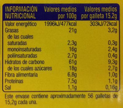 Digestive Avena - Información nutricional