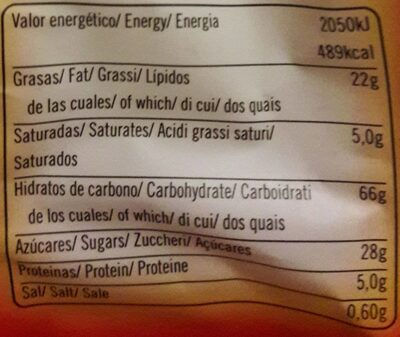 Choco chips - Nutrition facts - en