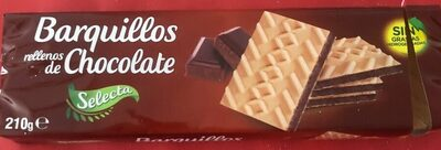 Barquillos rellenos de chocolate - Producto - es