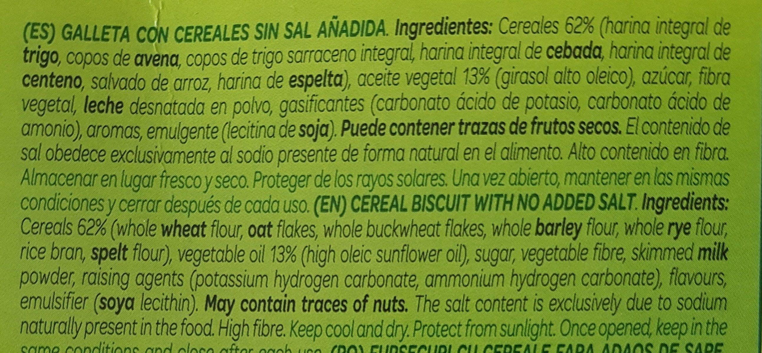 Ligera - Ingredientes - es