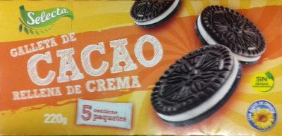 Galleta de Cacao Rellena de Crema - Producto