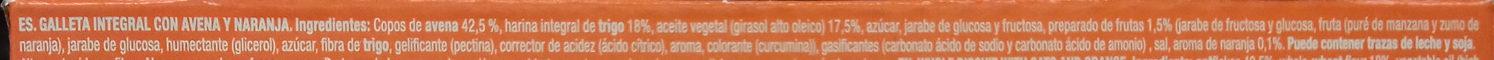 Digestive Avena naranja - Ingrediënten