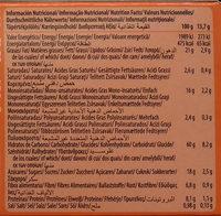 Digestive Avena naranja - Informations nutritionnelles - es