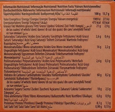 Digestive Avena naranja - Voedingswaarden