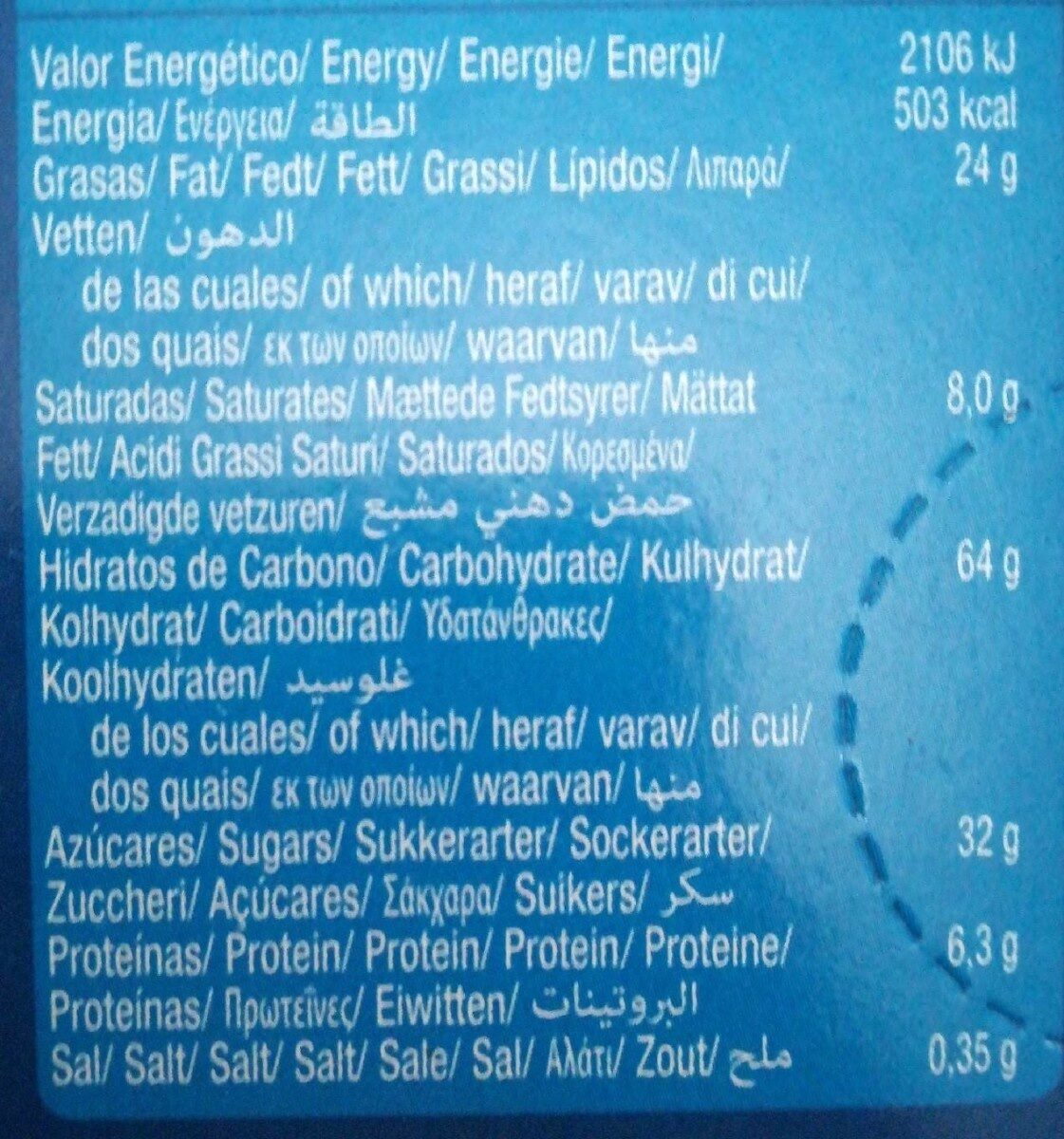 Moment Choco Star - Nutrition facts