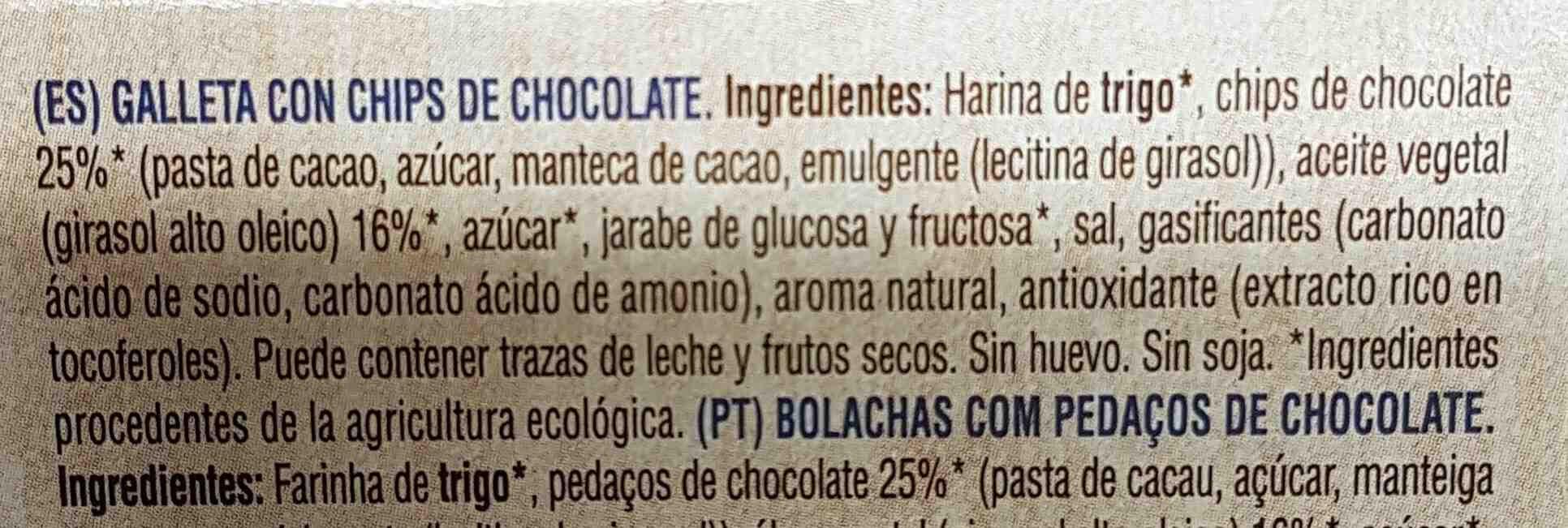 Choco Chips Bio Organic - Ingredients - en