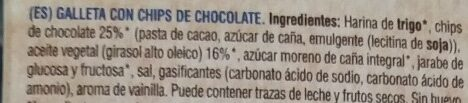 Choco Chips Bio Organic - Ingredientes - es