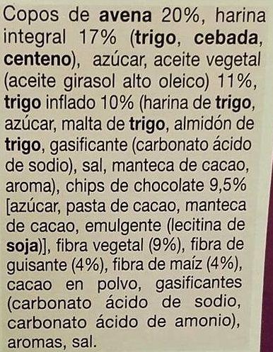 Barrita de chocolate con fibra Selecta - Ingredients - es