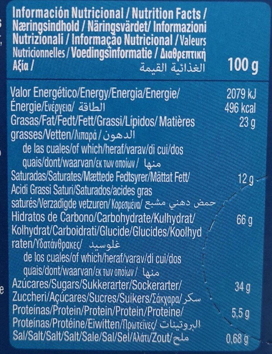 Moment choco star - Informations nutritionnelles