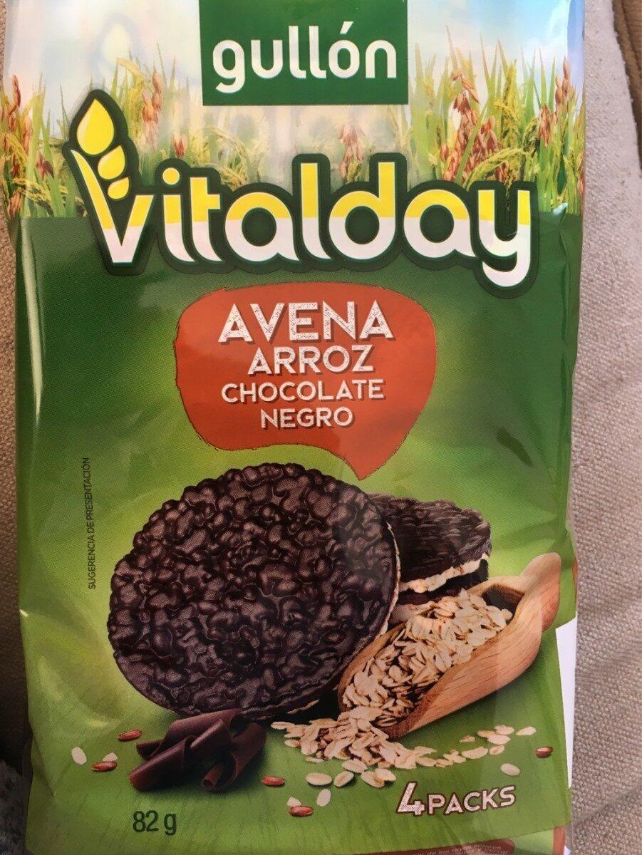 Vitalday avena arroz chocolate negro - Producto - es