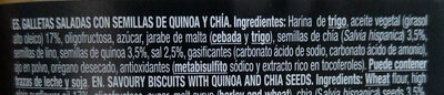 Crackers (quinoa y chía) - Ingredientes - es