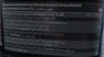 Crackers (quinoa y chía) - Información nutricional - es