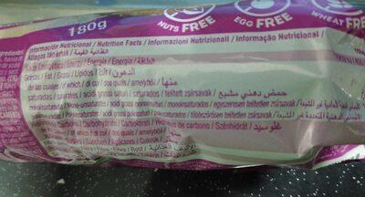 Galletas de Avena y Naranja Gluten Free - Información nutricional