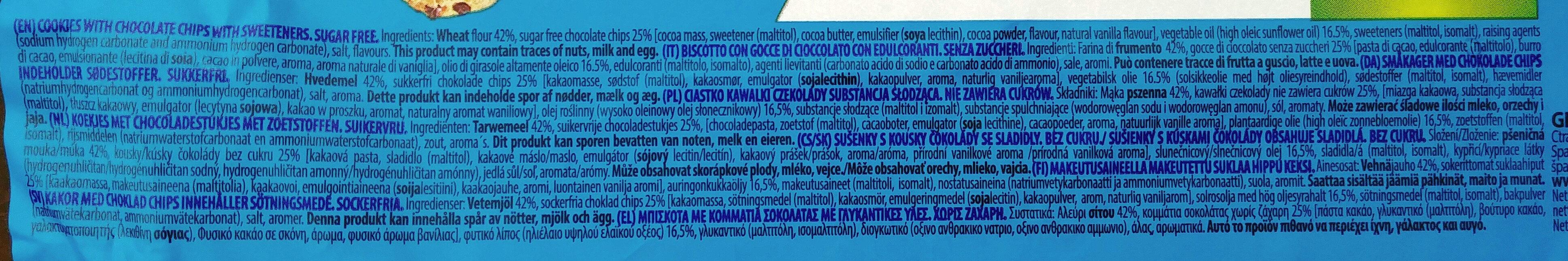 Choc Chip Cookies - Ingredients - en