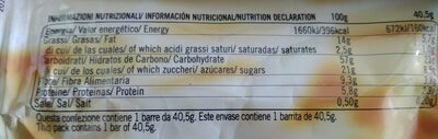 cuor di cereale brownie - Nutrition facts