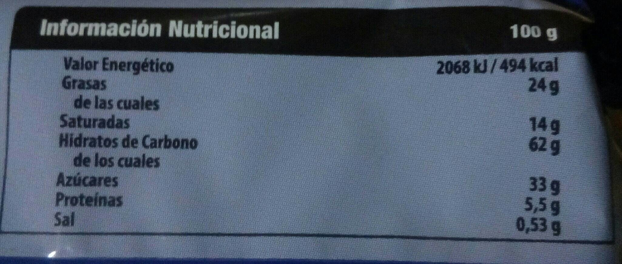 Cookies - Nutrition facts