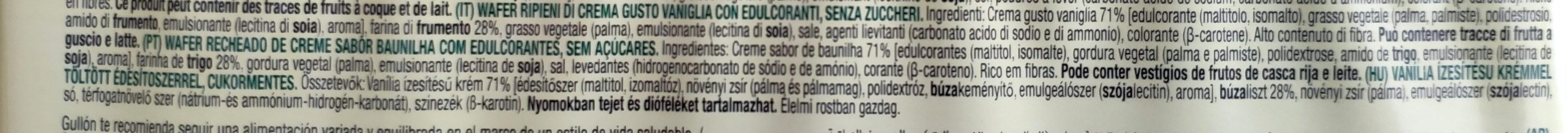 Barquillos de vainilla DietNature - Ingredientes - pt