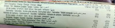 Barquillos de vainilla DietNature - Informação nutricional - pt