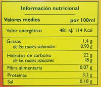 Natillas de vainilla - Nutrition facts - es