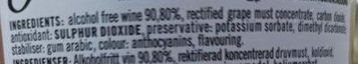 0.0% Alcohol Free Sparkling Rosé - Ingredients - en