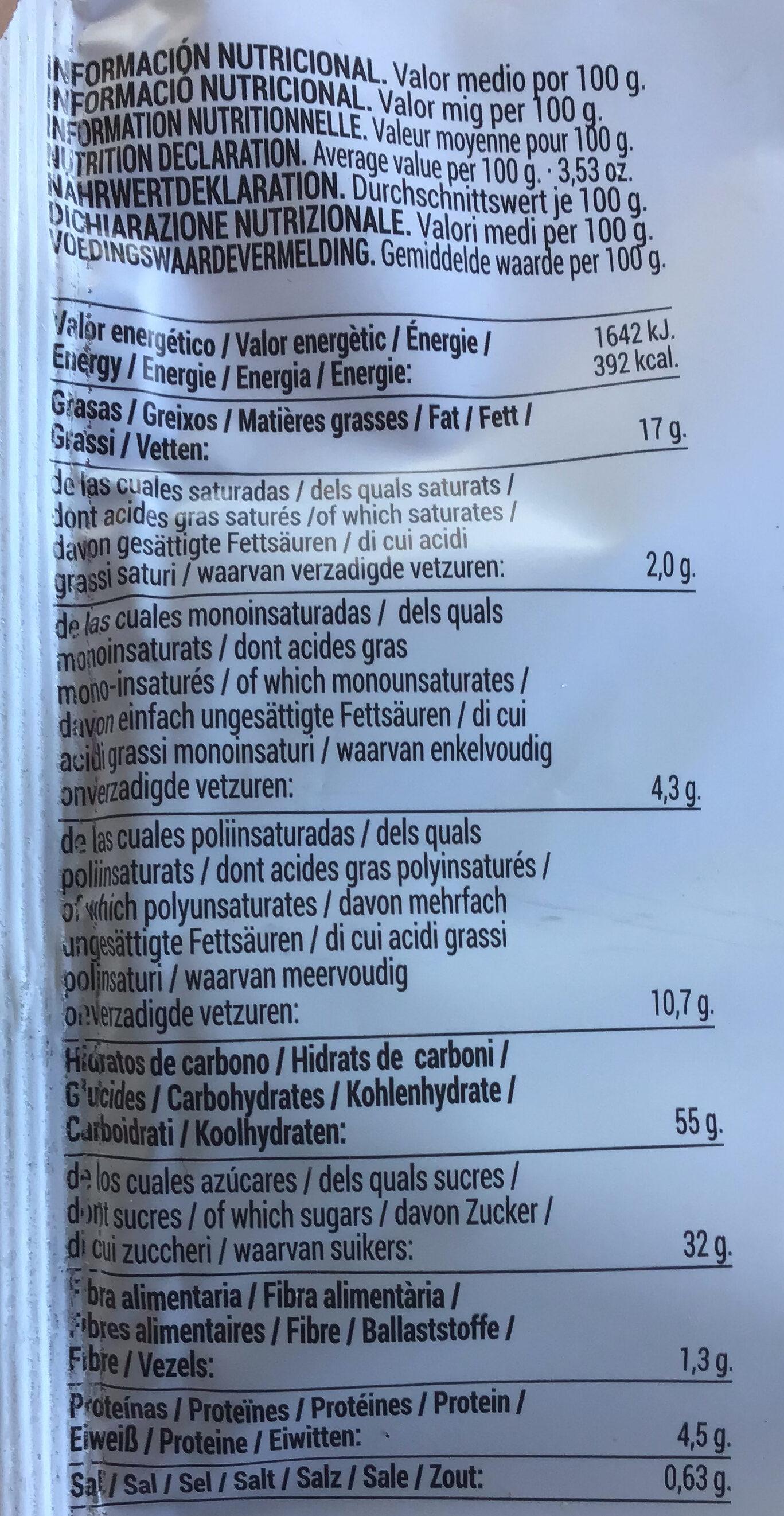 Rondas Crema - Informations nutritionnelles