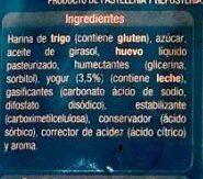 Bizcocho yogur - Ingredients - es