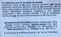 Muffins double choco - Ingrediënten - fr