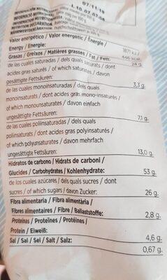 Madalenas supremas - Nutrition facts