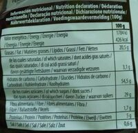 Choc-Chips - Nutrition facts - pt