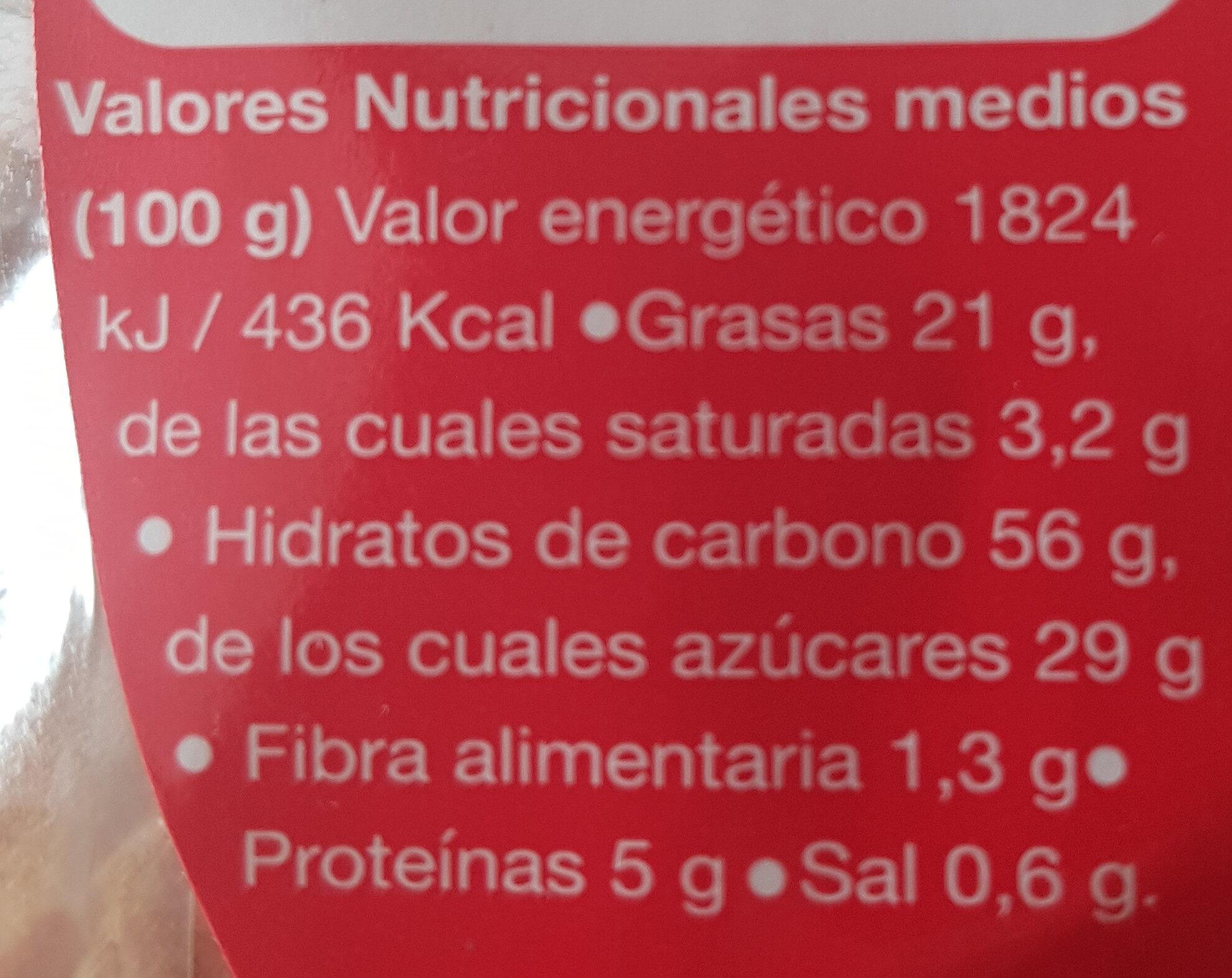 Magdalena dúo - Información nutricional - es