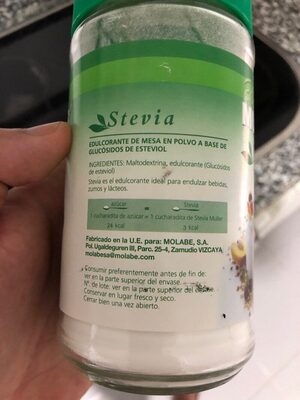 Stevia - Ingrediënten