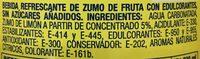 Kas Zero Limón - Ingrédients - fr