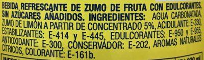 Kas Zero Limón - Ingrediënten - fr