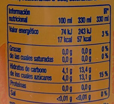 Refresco de naranja - Informations nutritionnelles